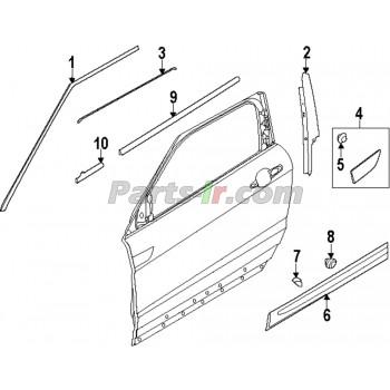 Накладка рамки передней правой двери LR050760, LR026427